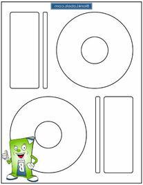 200 Memorex Compatible CD / DVD Labels. Large Center Style.