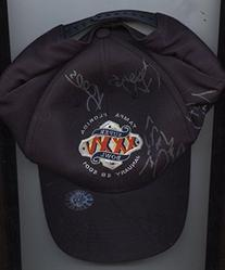 2001 Super Bowl New York Giants Autographed Cap 6 Signatures
