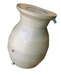 CONTINENTAL 2004-SS Space Saving Rain Barrel - Sand Stone