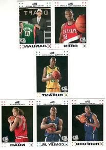 2007/2008 Topps NBA Rookie RC White Set  with Greg Oden,