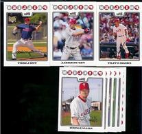 2008 Topps Philadelphia Phillies Series 1&2 Baseball Cards