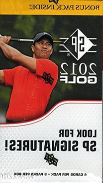 2012 Upper Deck SP Golf Factory Sealed Retail Box with 8