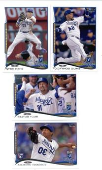 2014  Kansas City Royals Complete  Baseball Cards Team Set