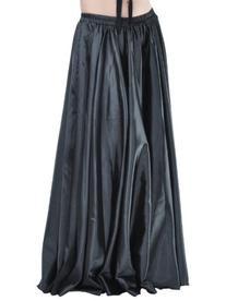 Dance Fairy Black Dance Satin Long Skirt Full Circular Swing