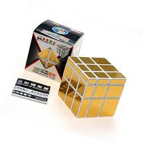 2015 Newest ShengShou 3 x 3 Gold Mirror Cube Puzzle White