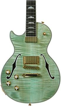 2015 Gibson Les Paul Supreme Seafoam Green Front and faded