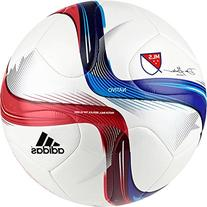 adidas Performance 2015 MLS Top Glider Soccer Ball, White/