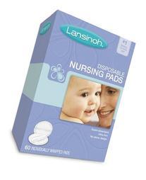 Lansinoh 20265 Disposable Nursing Pads, 60-Count, Eight-pk