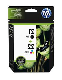 HP 21 Black & 22 Tri-color Original Ink Cartridges, 2 pack