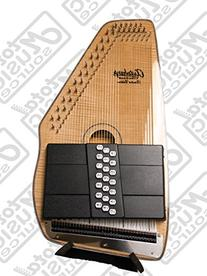 Oscar Schmidt 21 Chord Solid Spruce Autoharp w/ Gig Bag,