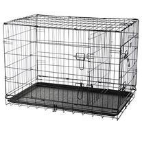 Pet Trex 2192 ABS 36 Inch Dog Crate Double Door Folding Pet