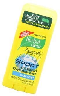 21st Century, Herbal Clear Deodorant, Sport, 2.65-Ounce