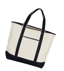 """22"""" Extra Large Shopping Tote Grocery Bag with Outer Pocket"""