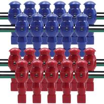22 Red and Blue Robotic Foosball Men