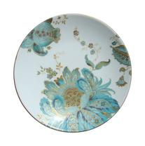 222 Fifth Eliza Spring Blue Turquoise Appetizer/ Bread Plate
