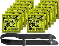 Ernie Ball 2221 Nickel Slinky Lime Guitar Strings - Buy 10,