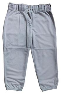 "Badger 2303 ""Big League"" Girls Softball Pants Baseball Grey"