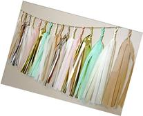 24 X Design Tissue Paper Tassels for Party Wedding Gold
