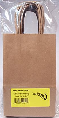 Creative Hobbies 24 Brown Small Paper Gift Handle Bags