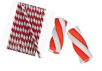24 Candy Cane Stripe Christmas Pencils and 24 Candy Cane