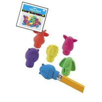 24 ct - Neon Zoo Animal Pencil Top Erasers