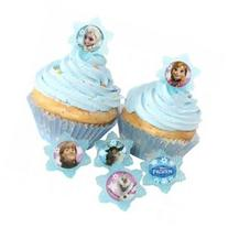 24 Frozen Adventure Friends Cupcake Ring Toppers