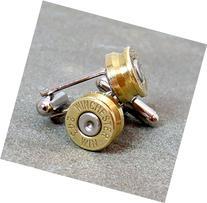 .243 Winchester Bullet Casing Cufflinks Brass with Nickel