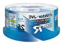 25 JVC Bluray Discs Bd-r 25 Gb 4x Speed Blank Surface