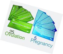 ClinicalGuard 25 Ovulation Test Strips & 5 Pregnancy Test