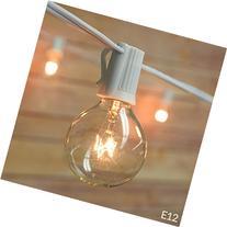 Fantado 10 Socket Outdoor Patio String Light Set, G40 Clear
