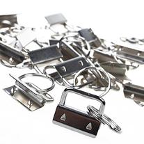 BCP 25sets 1 Inch Key Fob Hardware /Wristlet Sets with Key