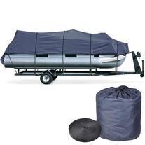 25' 26' 27 28' 600D Trailerable Pontoon Boat Cover