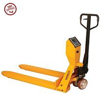 Wesco 272936 Scale Pallet Truck with Handle, Polyurethane