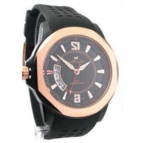 Lucien Piccard 28129RO Mens Rubber Rose Gold Date Watch