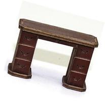 28mm Furniture: Medium Wood Office Desk