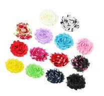 "28pc  2.25"" DIY Shabby Chiffon Fabric Hair Flowers, Color"