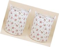 2PCS, Kingree Canvas Laundry Hamper, Round Storage Bin,