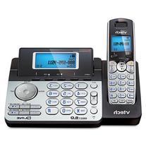 VTech 2LINE CORDLESS PHONE DECT 6.0 1 HNDST BLK/SLVR