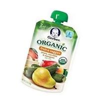 Gerber Organic 2nd Food Pouches, Fruit and Veggie Variety
