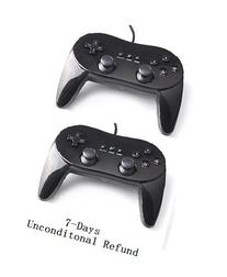 Bestsupply Classic Controller Pro for Nintendo Wii  - Black