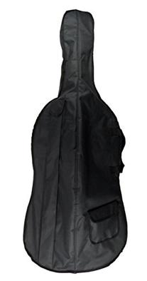 Merano 3/4 Size Black Cello with Bag and Black Bow+Rosin+