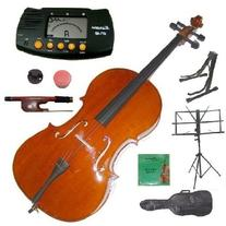3/4 Size Cello with Bag and Bow+2 Sets of Strings+Cello