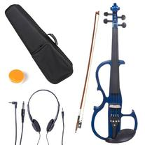 Cecilio 3/4 CEVN-2BL Solid Wood Electric/Silent Violin with