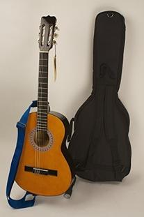 "Quality 3/4 Size 36"" Left Handed Nylon String Guitar, Strap"