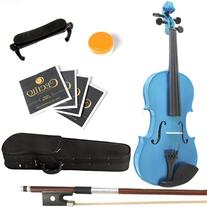 Mendini 3/4 MV-Blue Solid Wood Violin with Hard Case,