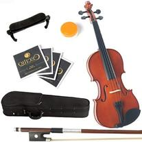 Mendini 3/4 MV200 Solid Wood Natural Varnish Violin with