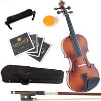 Mendini 3/4 MV300 Solid Wood Satin Antique Violin with Hard