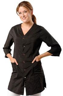 JMT Beauty 3/4 Sleeve Black Salon Smock