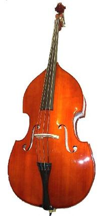 GRACE 1/2 Size Student Natural Upright Double Bass with Bag,