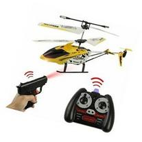 3.5ch RC Toy Missile Commander Gun Shooting RC 2x Helicopter